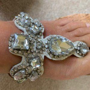 White Mountain rhinestone sandals
